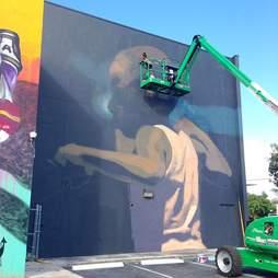 Graffiti in progress in Wynwood