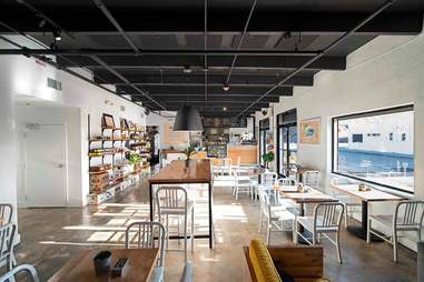 The interior at Miam Cafe