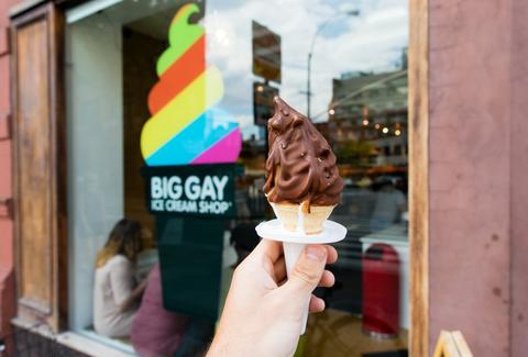 big gay ice cream and sign