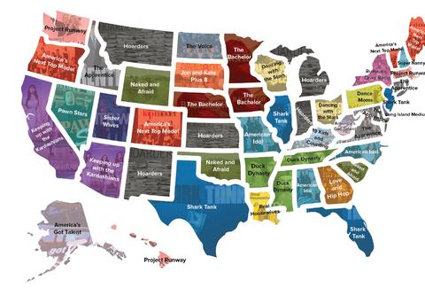 Every state's favorite reality tv show
