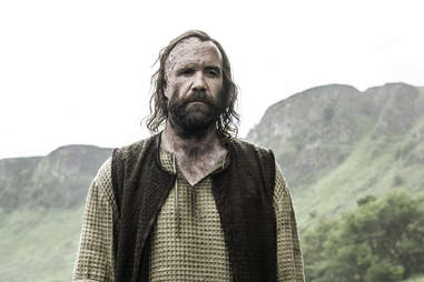 Rory McCann rejoins Game of Thrones as Sandor Clegane, the Hound, who is revealed to be alive