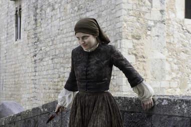 The Waif played by Faye Marsay after stabbing Arya Stark