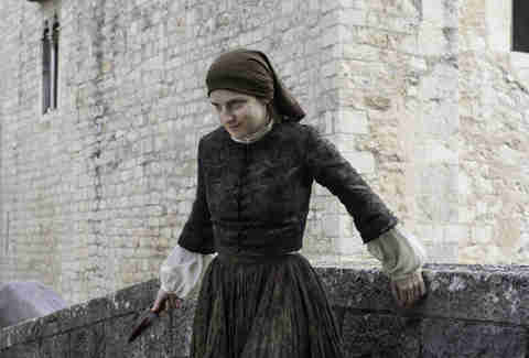 The Waif played by Faye Marsay after stabbing Arya Stark