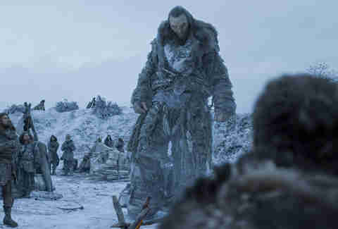 Wun-Wun, the giant, sides with Jon Snow and the Wildlings