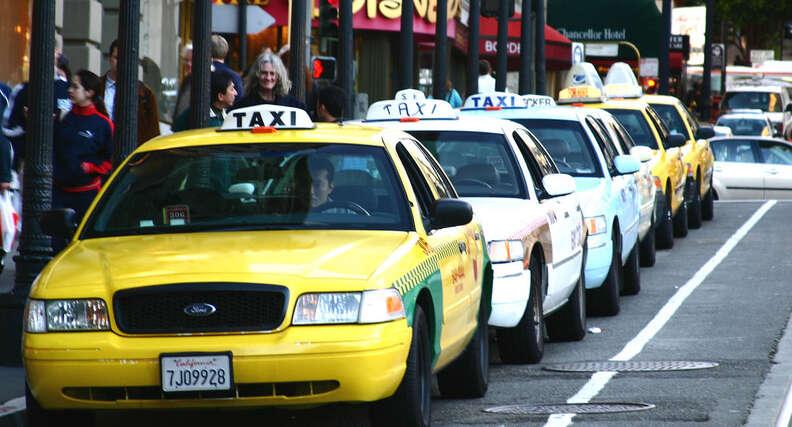 A taxi line
