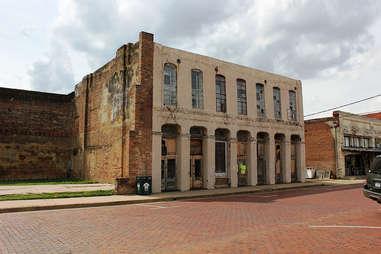 abandoned old building backroads houston texas