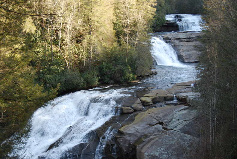 pisgah national forest waterfall