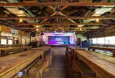Gruene hall interior stage benches