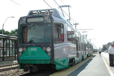 The Green Line in Boston