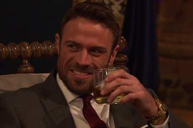 Chad drinking on bachelorette