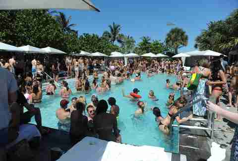 Pool party at Hyde Beach Miami