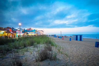 The beach in Rehoboth