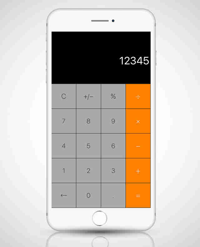 calculator + app in iphone