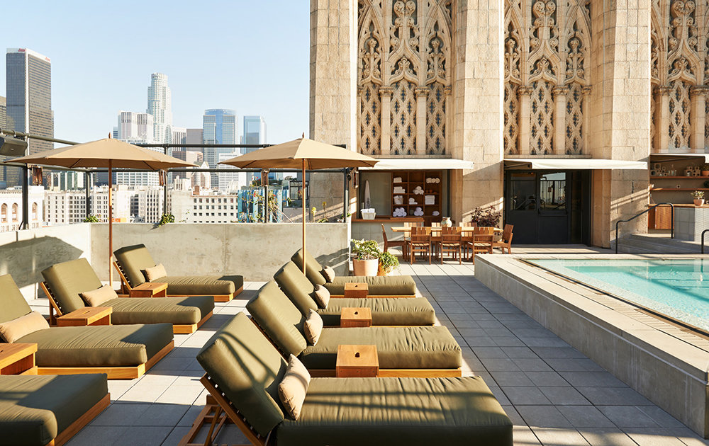 Upstairs Rooftop Lounge At Ace Hotel A Los Angeles Ca Bar