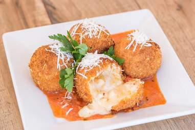 fried macaroni and cheese at Cheesecake Factory