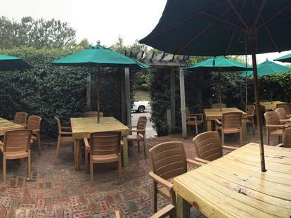 The patio at the Roadside Bar & Grill in Duck, NC