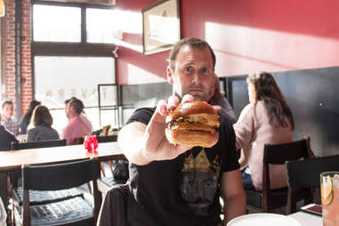 Kevin Holding Burger