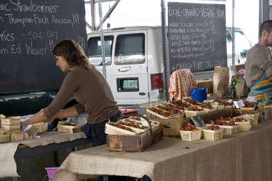 A farmer's market in Brooklyn