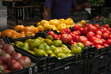 Tomatoes at a farmer's market