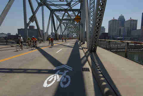 Louisville bike lane bridge