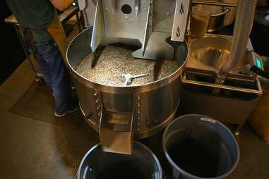 Coffee roasting cooling