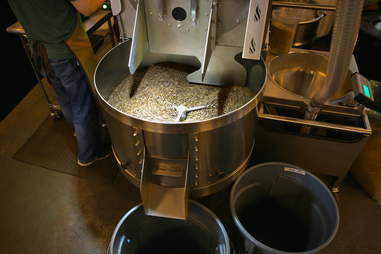 Coffee roasting cooling
