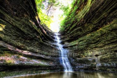 Starved Rock in Oglebsy, Illinois