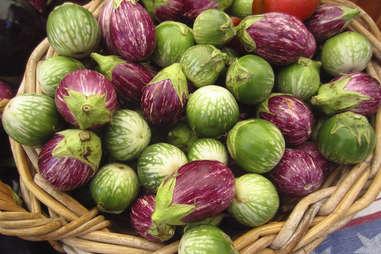 Baby eggplant at the farmer's market