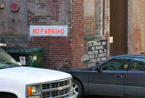 No parking sign Boston Massachusetts