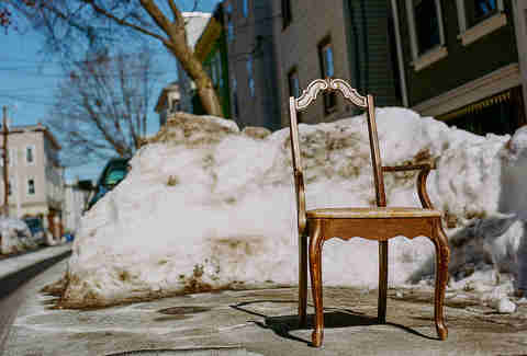 Space saver parking snow chair