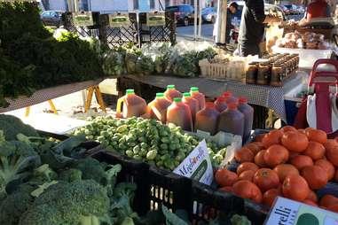 Farmer's market in Queens