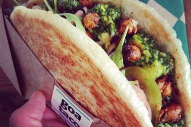 Goa Tacos, Smorgasburg, Los Angeles
