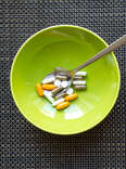 A bowl of vitamins