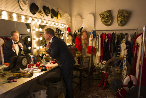 James Corden gets ready to host the Tony Awards