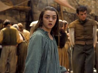 Arya on game of thrones season 6