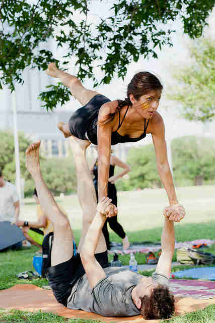 Acro yoga in Austin