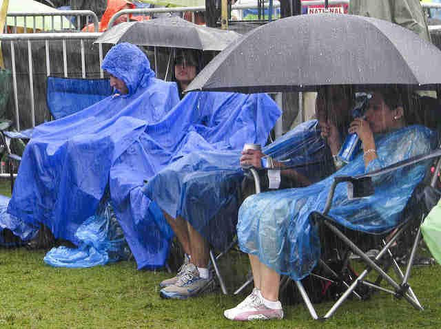 Austin festivalgoers rained on
