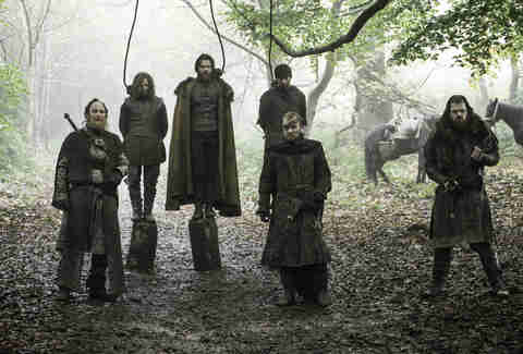 Paul Kaye as Thoros of Myr, Jóhannes Haukur Jóhannesson as Lemoncloak, Richard Dormer as Beric Dondarrion