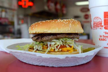 Burger at Hamburger Habit