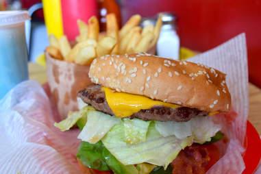 Burger at Howard's Famous Bacon & Avocado Burgers