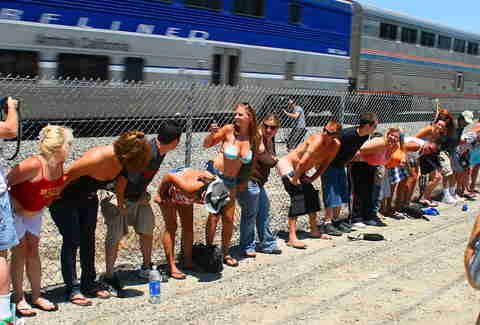 mooning amtrak