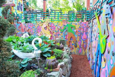 Backyard decoration at Randyland