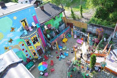 The backyard at Randyland