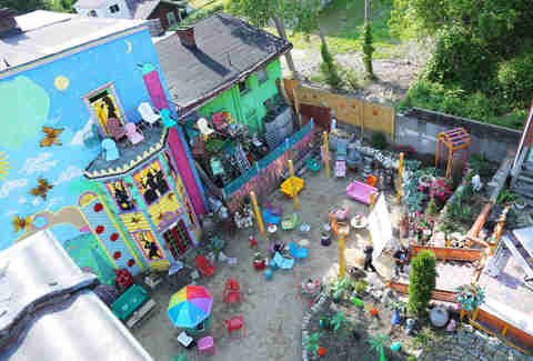 The backyard at Randyland