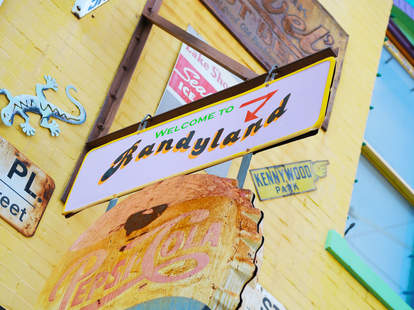 The sign for Randyland in Pittsburgh