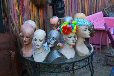 Mannequin heads at Randyland