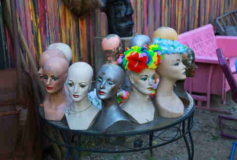 Mannequin heads at Randyland