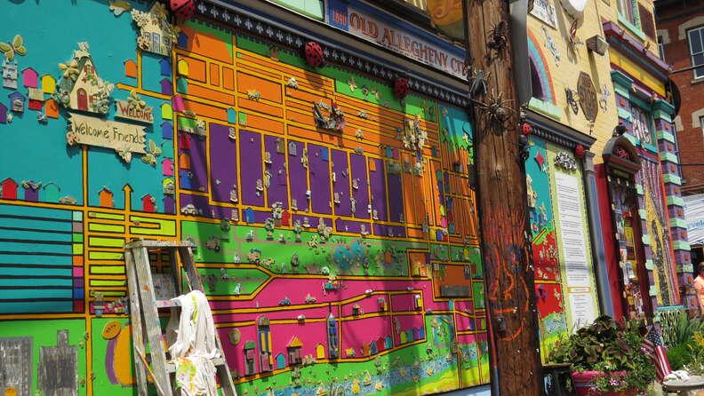 Wall art at Randyland