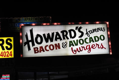Howard's Burgers sign in L.A.