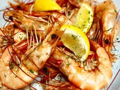 Shrimp at Marina Variety Store and Restaurant